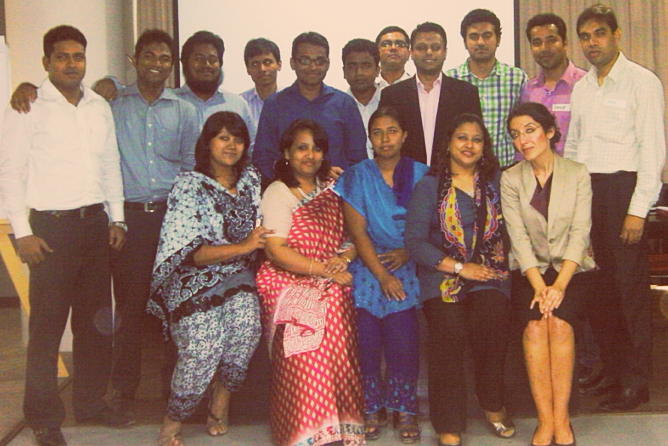 Vanessa With Rising Executive Participants Of The Pilot Workplace Competency And Leadership Program, Dhaka, Bangladesh